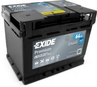 Autobaterie EXIDE Premium 12V 64Ah 640A EA640