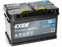 Autobaterie EXIDE Premium 12V 72Ah 720A, EA722