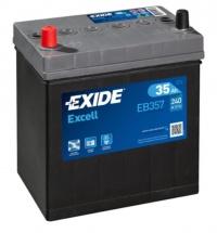 Autobaterie EXIDE Excell 12V 35Ah 240A levá EB357