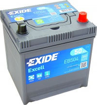 Autobaterie EXIDE Excell 12V 50Ah 360A EB504