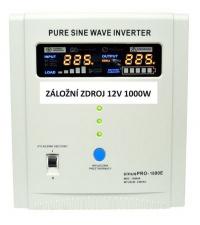 Záložní zdroj 12V SinusPRO 1000W