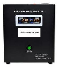 Záložní zdroj 12V SinusPRO 500W na stěnu