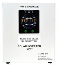 Záložní zdroj 12V SinusPRO 700W + solární regulátor MPPT