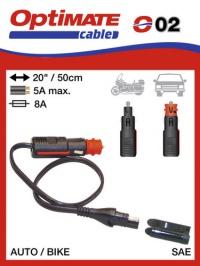 O02 Příslušenství k AccuMate a OptiMate SAE-72 DIN / zapalovač konektor (samec)