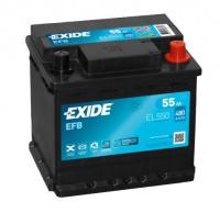 Autobaterie EXIDE Start-Stop EFB 12V 55Ah EL550