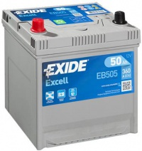 Autobaterie EXIDE Excell 12V 50Ah 360A EB505