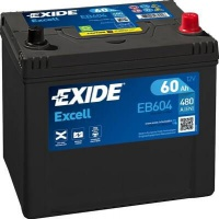 Autobaterie EXIDE Excell 12V 60Ah 640A EB604