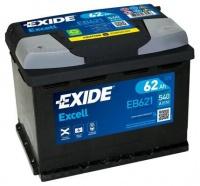 EXIDE Excell 12V 62Ah 540A EB621 Levá